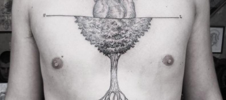 Gli incredibili tatuaggi surrealisti di Otto D'Ambra